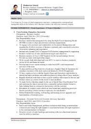 Resume Resume Of Supply Chain Customer Service For Walmart