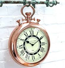rustic iron large pocket watch wall clock view in your room large oversized pocket watch style large pocket watch wall