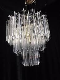 9 of 12 3 tier quatro lucite acrylic crystal brass 8 light brass chandelier camer modern