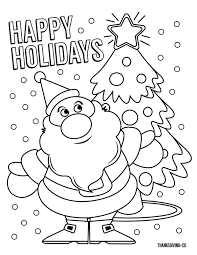 5 Christmas Coloring Pages Your Kids Will Love Thanksgivingcom