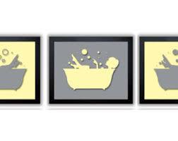instant download chalk yellow and grey gray girls in a bath tub bathtub set of 3 on grey and yellow bathroom wall art with bathroom decor bathroom print chalk yellow and mint green