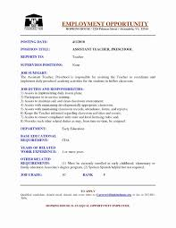 Resume For Early Childhood Teacher New Educational Resume Templates
