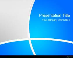 Blue Powerpoint Theme Free Blue Manager Powerpoint Template