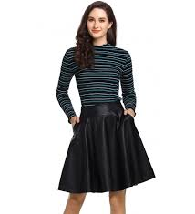 beluring leather skirts pleated skater