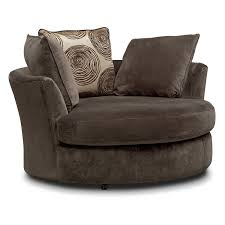 cordelle 2 piece sectional with right facing chaise and swivel chair set chocolate