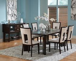 delano dining table set with ed glass