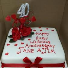Fresh Anniversary Cake For 27 Marriage Anniversary Cake With Name