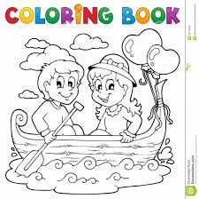Free Coloring Pages Coloring Book Love Theme Image 1 Royalty Free