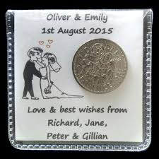 sixpence bride groom gift