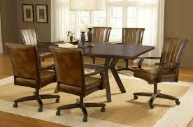 For Dining Room Sets With Chairs On Casters Table Inspirati Hd P Dining Room Table With Caster Chairs