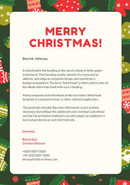 Christmas Letterhead Template Forest Green And Red Christmas Letterhead Templates By Canva
