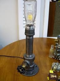 diy pipe lighting. #6 Side-table Industrial Lamp With Sold Apparel Diy Pipe Lighting N