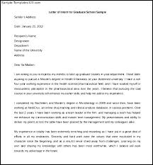 Letter Of Interest Cover Letter Letter Of Intent For Graduate School