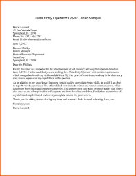 Ideas Of Data Entry Operator Cover Letter In Example Grassmtnusa Com