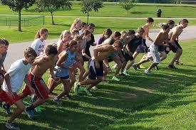 the bob jones cross country team training at dublin park