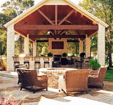Outdoor Kitchen Patio Outdoor Kitchen Designs With Roof Solid Wood Roofing Outdoor