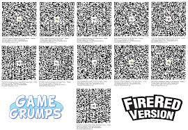 Game Grumps FireRed Pokémon Team QR Codes: PokemonQRCodes