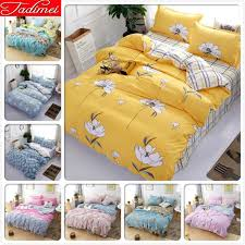 yellow duvet cover 3 bedding set kids child soft cotton bed linen single twin queen king size bedspreads bedclohtes grey and white comforter sets