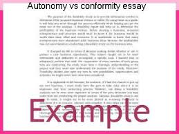 autonomy vs conformity essay term paper academic writing service autonomy vs conformity essay individuality conformity and dom in mass society a millian