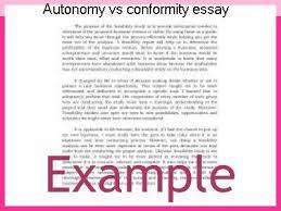 autonomy vs conformity essay term paper academic writing service autonomy vs conformity essay