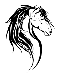 tribal horse head silhouette. Interesting Silhouette And Tribal Horse Head Silhouette D