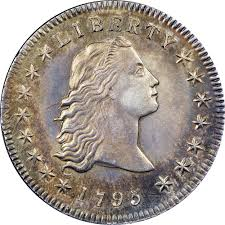 1795 Flowing Hair 1 Ms Early Dollars Ngc