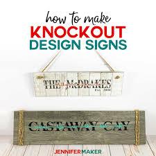 Cricut Name Designs Knockout Design Sign Tutorial For Cricut Design Space