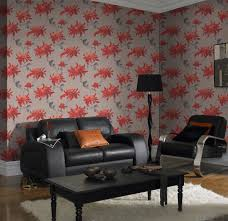 Red Wallpaper Designs For Living Room 5 Red Wallpapers To Liven Up Your Living Room