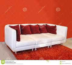 white leather couches with pillows.  Couches Modern White Leather Sofa Inside Interior With Red Wall And Carpet For White Leather Couches With Pillows E