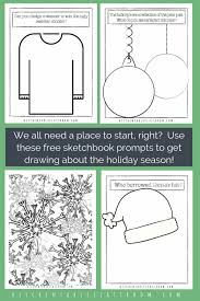 Christmas Coloring Paper Christmas Coloring Pages Free Printable Sketchbook Prompts The