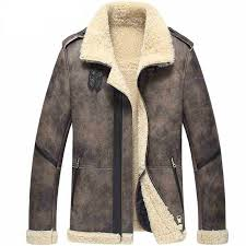 b 3 er leather jacket fur coat flight jacket men s shearling jacket aviator jacket motorcycle coat
