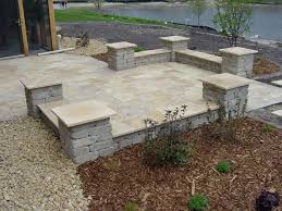 patio block edging backyard stone ideas best for your image of options design and paver edge