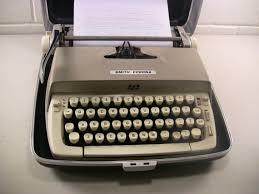century office equipment. vintage typewriter portable manual smith corona galaxie mid century office decor equipment