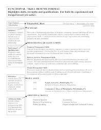Skills Resume Format – Joggnature