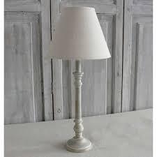 Natural Washed Lamp Base With Linen Shade
