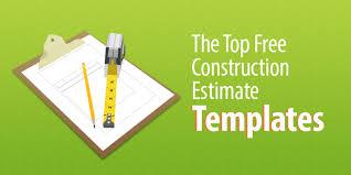 Estimates Templates Free The Top 6 Free Construction Estimate Templates Capterra Blog
