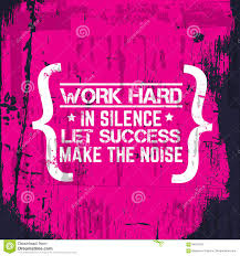 Quote Typographical Background About Hard Work Stock Vector