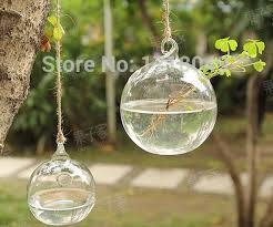 dia 10cm round bottom globe hanging water planter vase water culture green plant for home decor garden ornament in vases from home garden on
