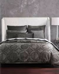 hotel collection marble geo black geometric king duvet cover macy s 335