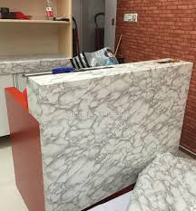 5M Modern PVC Marble Waterproof Vinyl Self adhesive Wallpaper Roll Wall  Sticker Contact Paper for Kitchen