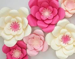 Paper Flower Decor Paper Flower Decor Etsy