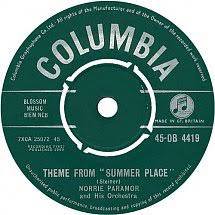 45cat norrie paramor and his orchestra theme from summer place half pint columbia uk db 4419