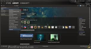 dota 2 open steam library and right click at properties