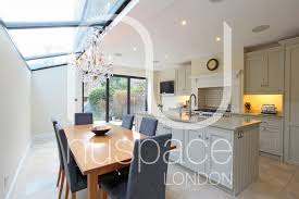 Kitchen Extensions Side Return Kitchen Extension With Sloping Glass Roof In Fulham