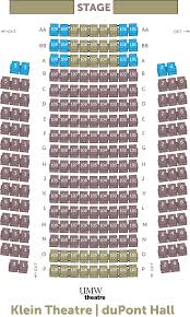 Klein Theatre Seating Chart Theatre And Dance