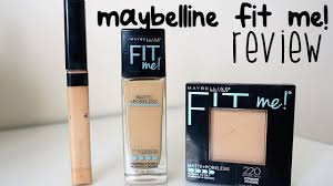 maybelline fit me matte poreless review foundation concealer powder bahasa you