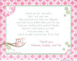 Baby Gift Thank You Note Thank You For Your Baby Gift Cards Iphotography Club