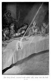 the holy grail s sighting at the round table in william henry margetson s ilration for legends of