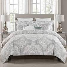 gray paisley bedding. Plain Bedding Envogue Queen Full Comforter Set Grey Paisley 5 Pieces Intended Gray Paisley Bedding Amazoncom