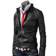 zip pocket mens slim fit black jacket